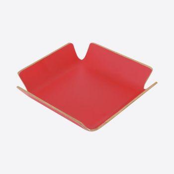 Point-Virgule porte-serviettes rouge 15x15x4cm