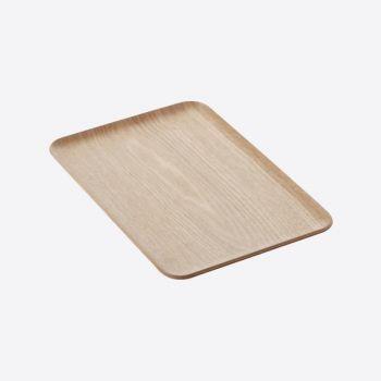 Point-Virgule plateau à servir rectangulaire couleur bois 33x23cm