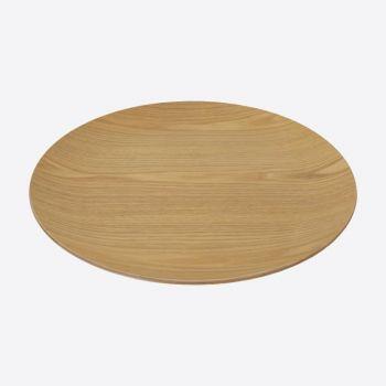 Point-Virgule plat à servir rond couleur bois ø 41cm H 3cm