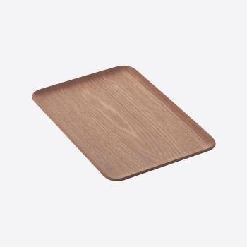 Point-Virgule plateau à servir rectangulaire noix 33x23cm
