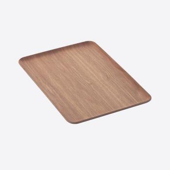 Point-Virgule plateau à servir rectangulaire noix 39x27cm