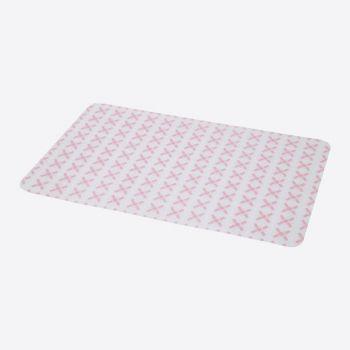 Point-Virgule set de table silicone rose 45x30cm
