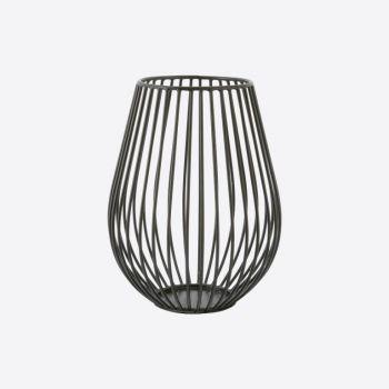 Point-Virgule Wire bougeoir pour bougie chauffe-plat noir ø 11.5cm H 15.5cm