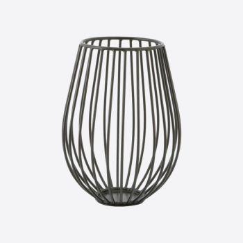 Point-Virgule Wire bougeoir noir ø 14cm H 18cm