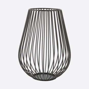 Point-Virgule Wire bougeoir noir ø 17cm H 22.5cm