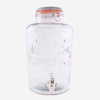 Point-Virgule distributeur de boisson avec robinet en plastique 8L (par 4pcs)