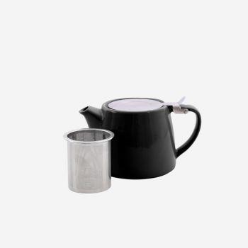 Point-Virgule théière avec infuseur à thé noir mat 500ml