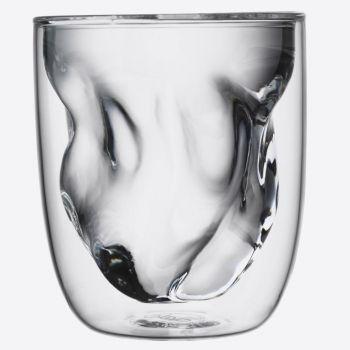 QDO Elements set de 2 verres double paroi Terre 210ml