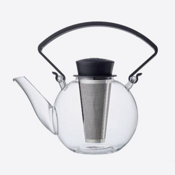 QDO théière en verre avec une anse Tea 4 U noir 1L