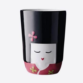 QDO Folklore tasse double paroi en porcelaine Komachi - Japon 210ml