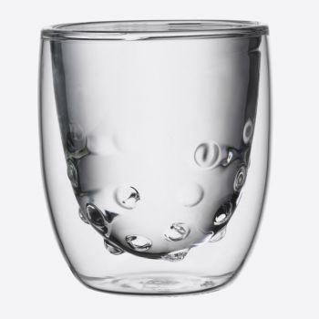 QDO Elements set de 2 verres double paroi Eau 75ml