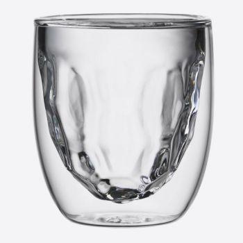 QDO Elements set de 2 verres double paroi Métal 75ml