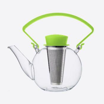 QDO théière en verre avec une anse Tea 4 U vert 1L