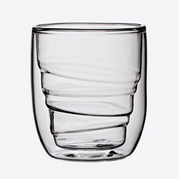QDO Elements set de 2 verres double paroi Bois 75ml