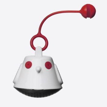 QDO infuseur à thé pour tasse Birdie String rouge Ø 4.5cm H 11.5cm