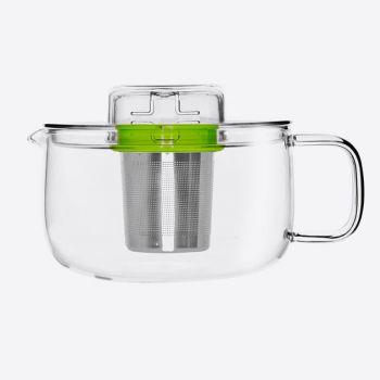 QDO Me Pot théière en verre avec infuseur vert 500ml