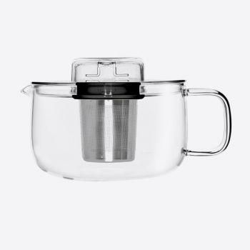QDO Me Pot théière en verre avec infuseur noir 500ml