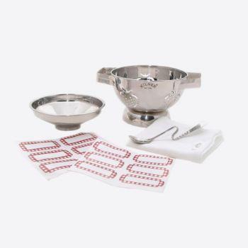 Kilner set avec passoire/entonnoir/cuillère à confiture/étamine & 12 étiquettes