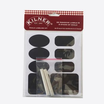 Kilner set de 26 étiquettes tableau & 2 craies