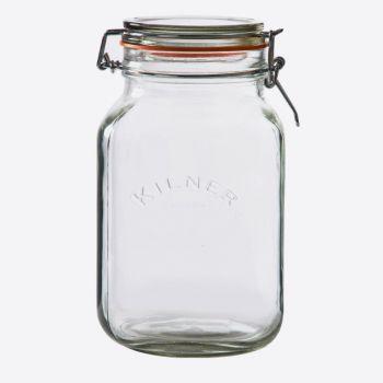 Kilner bocal en verre carré avec fermeture clip 2L