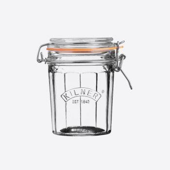 Kilner bocal en verre facetté avec fermeture clip 450ml