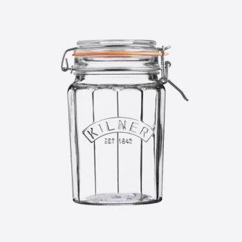 Kilner bocal en verre facetté avec fermeture clip 950ml