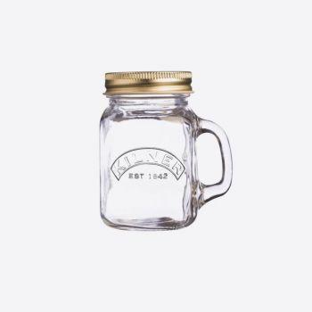 Kilner mini gobelet en verre avec poignée et couvercle doré 140ml (12pcs/disp.)