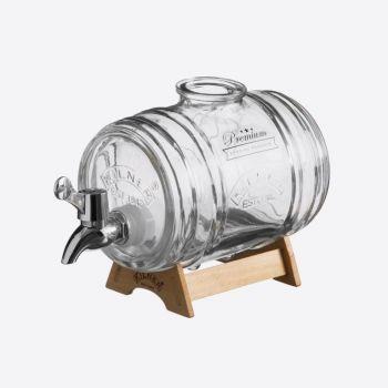 Kilner distributeur de boissons Barrel avec support en bois 1L