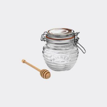 Kilner pot de miel en verre avec cuillère en bois dans coffret cadeau 400ml