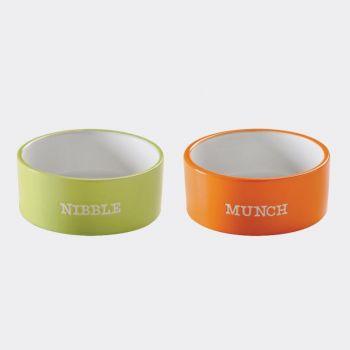 Mason Cash Brights 2 gamelles Munch et Nibble ø 12cm (par 4pcs)