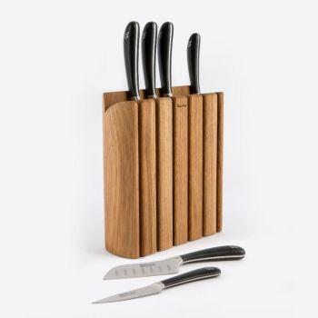Robert Welch Signature bloc à couteaux en chêne avec 6 couteaux 28x8x36cm