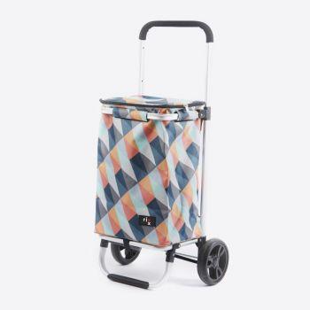Rixx poussette de marché geometric couleurs vives 30L