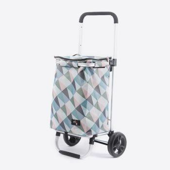 Rixx poussette de marché geometric couleurs pastels 30L