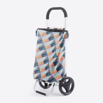 Rixx poussette de marché geometric couleurs vives 38L