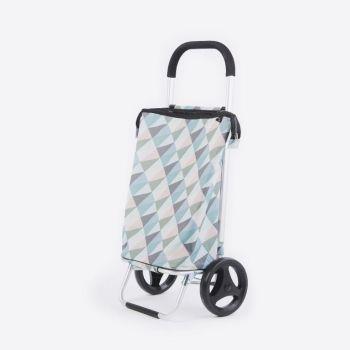 Rixx poussette de marché geometric couleurs pastels 38L