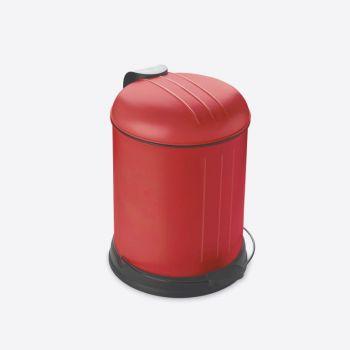 Rixx poubelle à pédale avec couvercle silencieux rouge mat 5L