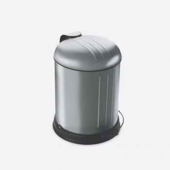 Rixx poubelle à pédale avec couvercle silencieux inox résistant aux traces 5L