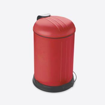 Rixx poubelle à pédale avec couvercle silencieux rouge mat 12L