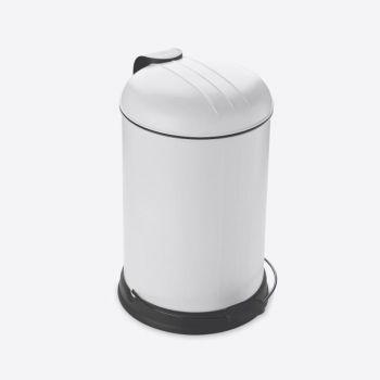 Rixx poubelle à pédale avec couvercle silencieux blanc cassé mat 12L