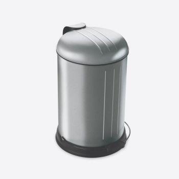 Rixx poubelle à pédale avec couvercle silencieux inox résistant aux traces 12L