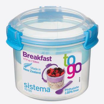 Sistema To Go bol à déjeuner avec compartiment et cuillère 530ml (6 ass.)