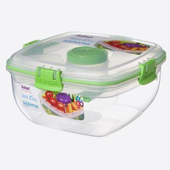 Sistema To Go bol salades avec compart. - pot à vin. et couvert 1.1L (4 ass.)
