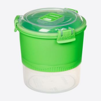 Sistema Lunch Stack To Go boîte 2 parts & cuillère/fourchette 990ml (3 ass.)