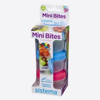Sistema To Go set de 3 boîtes à snack Mini Bites 130ml (8 ass.)