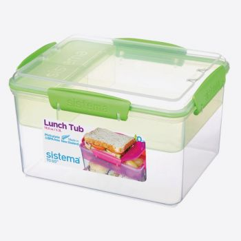 Sistema To Go boîte à lunch avec 4 compartiments Lunch Tub 2.3L (4 ass.)