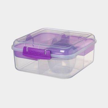 Sistema To Go Bento Cube 4 compartiments & pot à yaourt 1.25L (4 ass.)