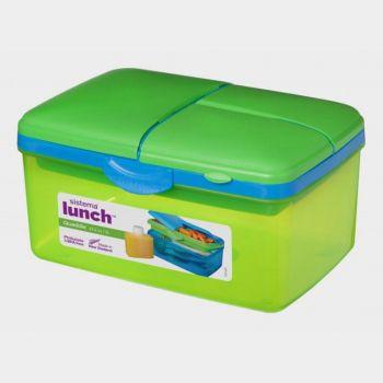 Sistema Trends Lunch boîte à lunch avec bouteille Quaddie 2L (6 ass.)