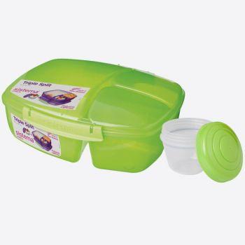 Sistema Vibe Lunch boîte à lunch 3 compartiments & pot à yaourt 2L vert