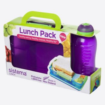 Sistema Lunch Packs boîte à lunch Snack Attack Duo & bout 330ml (6 ass.)