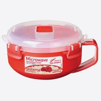 Sistema Microwave bol à petit déjeuner avec poignée 850ml (par 4pcs)